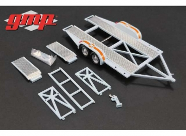 GMP Tandem Trailer with tire rack 1:43 Gulf Anhänger 14304