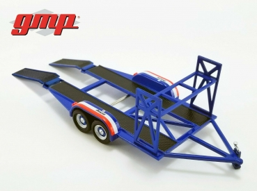 GMP Tandem Trailer with tire rack 1:43 Mopar 14310 Auototransport Anhänger