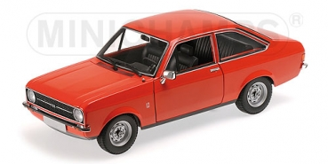 Minichamps FORD ESCORT II (LHD) - 1975 - ORANGE 1:18 Limited Edition 1/1002