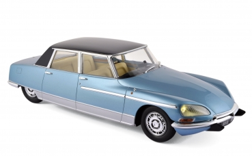 Norev Citroën DS 21 Chapron Lorraine 1969 blau 1:18 - 18003B with light