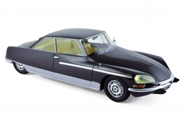 Norev Citroën DS 21 Chapron Le Leman 1968 darkblue 1:18 - 18004A with light
