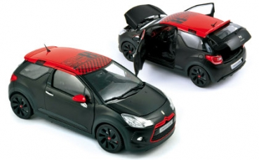 Norev 181543 Citroën DS3 Racing Loeb 2012- Black Matt & Red 1:18