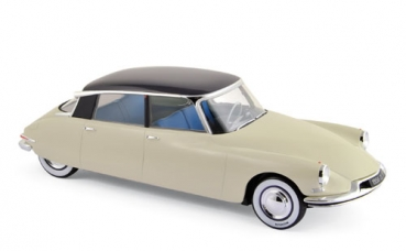 "Norev Citroën DS 19 1956 - Champagne & Aubergine -""Salon de Paris-Oct 1955"" 1:18 - 181565"
