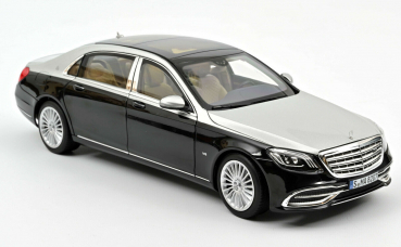 Norev 183427 Mercedes Maybach S650 2018 black metallic silver 1:18 Modellauto