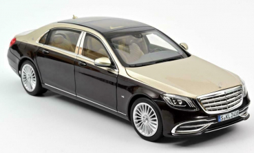 Norev 183428 Mercedes Maybach S650 2018 darkred metallic silver 1:18 Modellauto