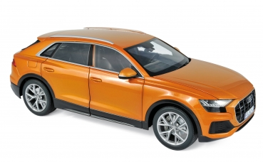 Norev 188371 Audi Q8 2018 orange metallic 1:18 Modellauto
