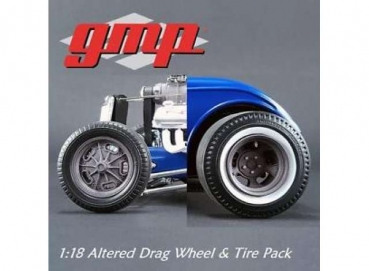 GMP Felgen 18864 altered Drag Wheel Set 1:18 Radsatz 42 / 43 mm