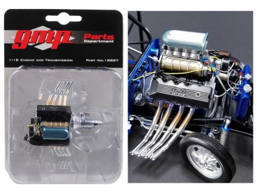 GMP 18887 Ford 427 SOHC Engine & Transmission Motor & Geriebe 1:18