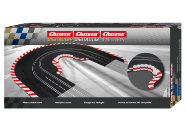 Carrera DIGITAL 124 + 132 + Evolution Haarnadelkurve 20613 Slotcar Schienen