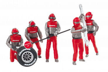 Carrera Figurensatz Mechaniker Carrera Crew rot 1:32 - 21131 Figuren Motorsport
