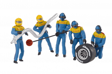 Carrera Figurensatz Mechaniker Carrera Crew blau 1:32 - 21132 Figuren Motorsport