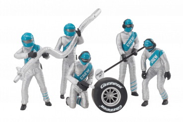 Carrera Figurensatz Mechaniker Carrera Crew silber 1:32 - 21133 Figuren Motorsport
