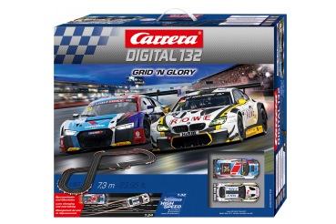 Carrera DIGITAL 132 Grid 'n Glory 30010 Rennbahn Audi R8 LMS + BMW M6 GT3