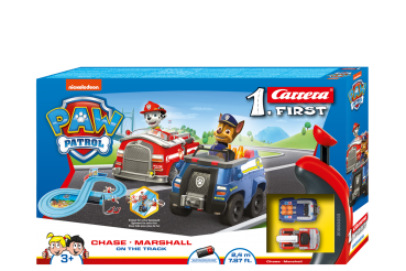 Carrera 1.First 63033 PAW PATROL - On the Track -  Rennbahn mit 2 Autos