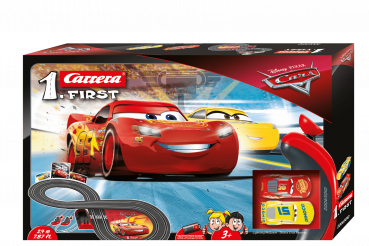 Carrera 1.First 63010 Disney·Pixar Cars 3 Rennbahn mit 2 Autos