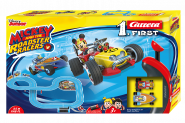 Carrera 1.First 63013 Mickey and the Roadster Racers Rennbahn mit 2 Autos
