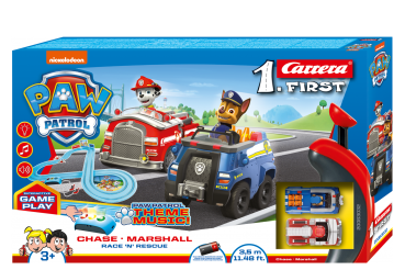 Carrera 1.First 63032 PAW PATROL Race 'N' Rescue  Rennbahn mit 2 Autos