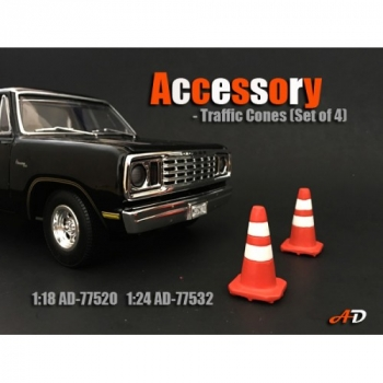 American Diorama 77532 traffic Cones set of 4 - 1/1000 1:24