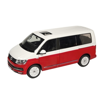 NZG VW Bus T6 Multivan Generation Six rot-weiss 1:18 9541/10