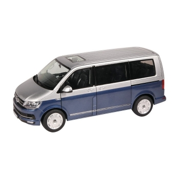 NZG VW Bus T6 Multivan Generation Six blau-silber 1:18 9541/20