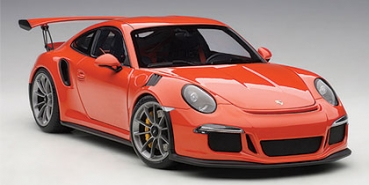 AUTOart PORSCHE 911 991 GT3 RS lava orange + graue Felgen 1:18 - 78168