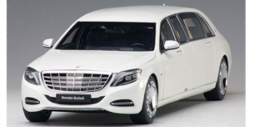 AUTOart MERCEDES-MAYBACH S 600 PULLMAN (WHITE) 1:18 - 76296