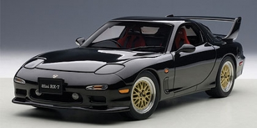 AUTOart MAZDA ɛ̃fini RX-7(FD) 1991 TUNED VERSION briliant schwarz 1:18 75968