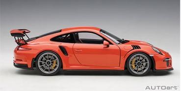 modellbau autoart porsche 911 991 gt3 rs lava. Black Bedroom Furniture Sets. Home Design Ideas