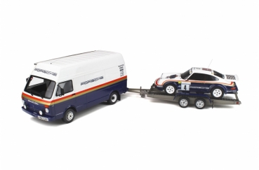 Otto Models 331 VW LT Kasten + Porsche 911 SC RS Rothmans Design 1:18 limited 1/3000