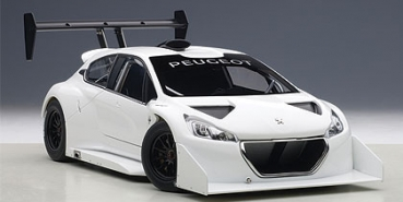 AUTOart PEUGEOT 208 T16 PIKES PEAK RACE CAR 2013 PLAIN COLOR VERSION WHITE 1:18 81355