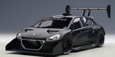AUTOart PEUGEOT 208 T16 PIKES PEAK RACE CAR 2013 PLAIN COLOR VERSION schwatz 1:18 81356