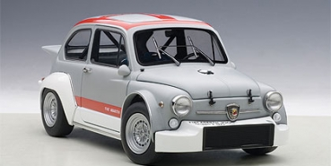 AUTOart FIAT ABARTH 1000 TCR MATT GREY-RED STRIPES 1:18 72641