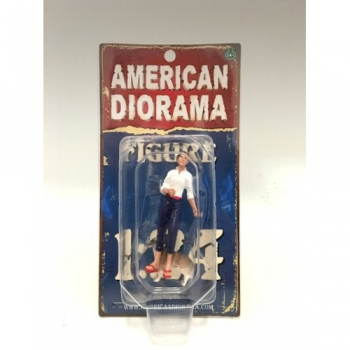 American Diorama 23890 Woman and Dog (Set of 2) 1:18 limited 1/1000
