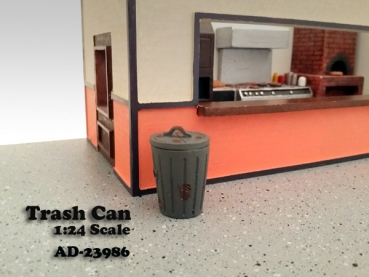 American Diorama 23986 Trash Can (set of 2) 1:24 limited 1/1000