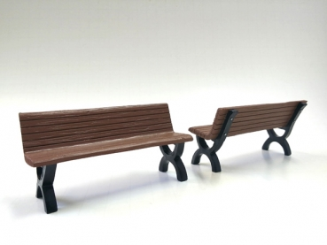 American Diorama 23990 accessory bench (set of 2) 1:24 limited 1/1000