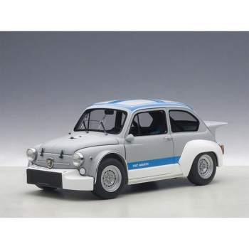 AUTOart FIAT ABARTH 1000 TCR MATT GREY-BLAU STRIPES 1:18 72642