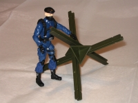 Tank Trap / Beach Obstacle (1) - 1:18 Scale Accessory for 3 3/4 Inch Action Figures