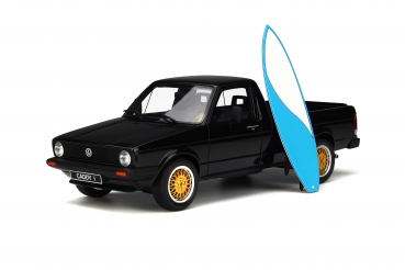 Otto Models 665B - VW Caddy Pickup 1980 black with blue surfbord 1:18 limited 1/1000