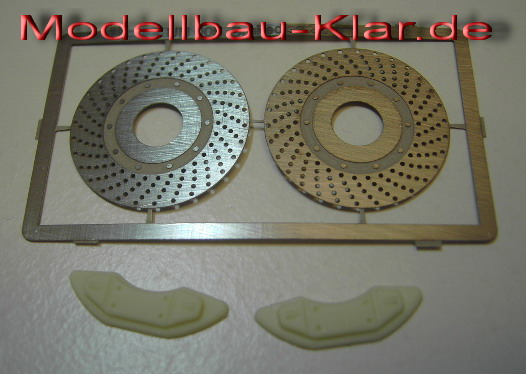 1 Achsen-Satz // 2 . Bremssattel 22mm  gelb lackiert Bremsscheiben U-N gelocht