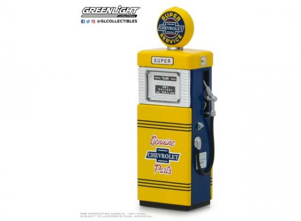Greenlight Zapfsäule Super Chevrolet Service Vintage Gas Pumps Series 6 1:18 - 14060B
