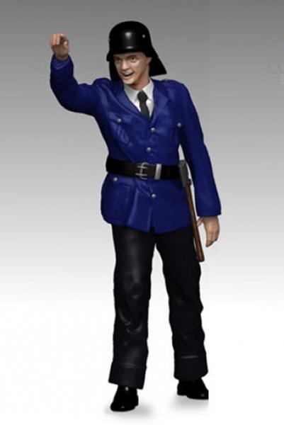 Figurenmanufaktur 430139 Feuerwehrmann zeigt Figur 1:43