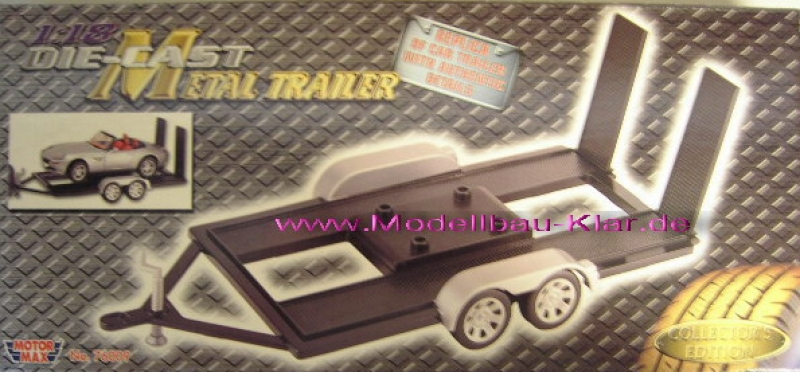 anhÄnger AutoanhÄnger Trailer Auto Abschlepper Schlepper 1//24 Motormax Modellaut