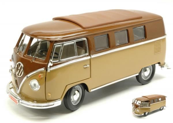 VW T1 Microbus 1962 orange weiß Modellauto 1:18 Lucky Die Cast