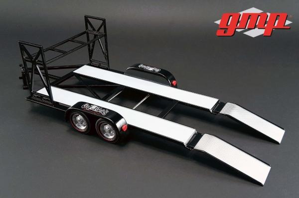 schwarz 1:18 GMP 18836 Gas Monkey Motorsportanhänger Anhänger Trailer