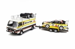Otto Models 276 VW LT + Audi Quattro S1 + Trailer Rally Set Portugal Audi Team 1:18 limited 1/3000
