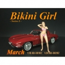 American Diorama 38267 Calendar Girls March 1:24 1/1000
