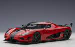 AUTOart 79022 Koenigsegg Agera RS Chilli Red Carbon Black 1:18 Modellauto
